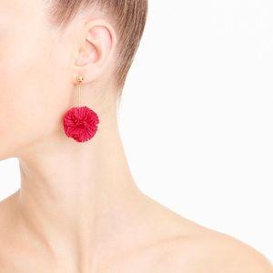 J.crew Pom Pom ball earrings